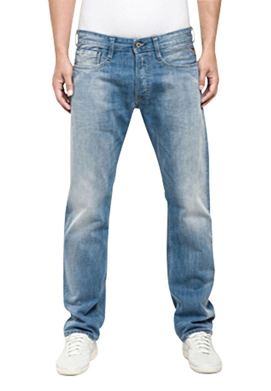 Replay Herren Jeans Newbill Comfort Fit - Blau - Deep Blau