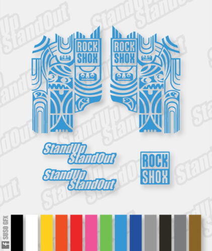12 Rockshox Stickers couleurs personnalisées disponibles autocollants totem-Couleur Unique