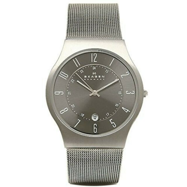 SKAGEN 233XLTTM Mens Watch Ultra Slim Titanium From Japan with Tracking