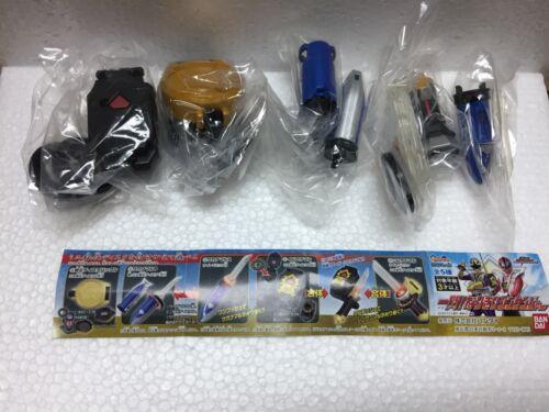 Bandai Power Ranger Shinkenger SAKANAMARU Sushi Sword Morpher Set of 5 Gashapon