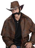 Black Civil War Wild West General Burnside Self Adhesive Beard