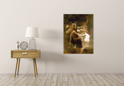 William Adolphe Bouguereau Nymphs Satyr Old Master Art Painting Canvas Art Print