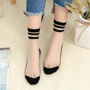 Girls Mesh Fishnet Socks Sexy Lace Stretch Sock Ankle Thin Sox Transparent Pairs