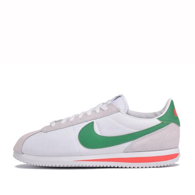 nike cortez white green used