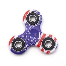USA Flag Tri-Spinner Hand Fidget Spinner Toy American Stars Stripes Patriotic