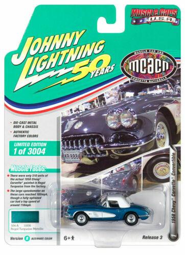 1958 Chevrolet Corvette Torquoise *RR* Johnny Lightning Muscle 1:64 OVP