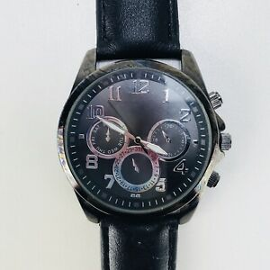 Japanese Movement Stainless Steel Watch Black 7391 Battery 377 Analog Watch Ebay