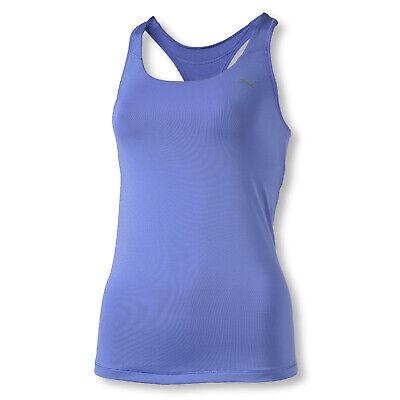puma damen fitness freizeit tank top gym tank purpel blue