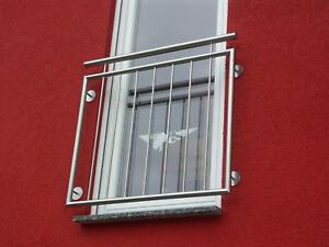 Edelstahl Balkongitter V2A französischer Balkon Fenster Gitter Geländer Auswahl