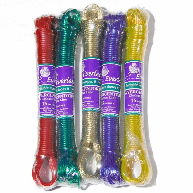 EVERLASTO 200M WYERCENTOR CLOTHES WASHING LINE RED GREEN gold blueE YELLOW 3.5MM