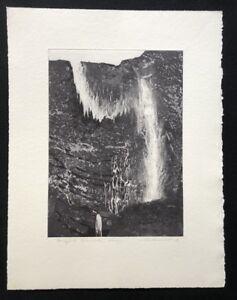 Wolfgang maestro di fabbrica, vapore fine roccia muro, farbradierung, 1987, firmato a mano