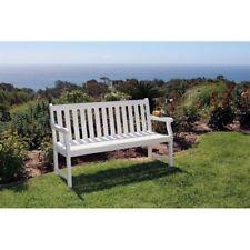Bradley Eco Friendly 5 Foot Outdoor White Wood Garden Bench