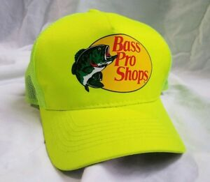 b77cf839 Bass Pro Shops Mesh Hat Adjustable Snapback Trucker Baseball Fishing ...