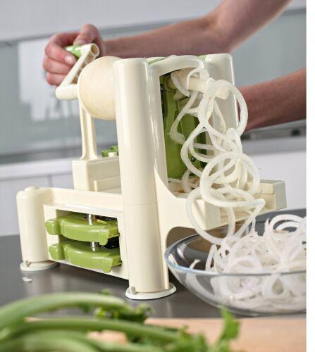 Cortador Verduras en Espiral y Fideo Cuchillas Intercambiables Lurch Ventosas