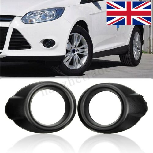 2x FRONT FOG LIGHTS SURROUND LAMPS MASK FRAME RING COVER TRIM FOR FORD FOCUS 12+