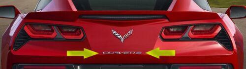 C7 Corvette Stingray//Z06//GS 2014 Chrome Rear Bumper Corvette Lettering