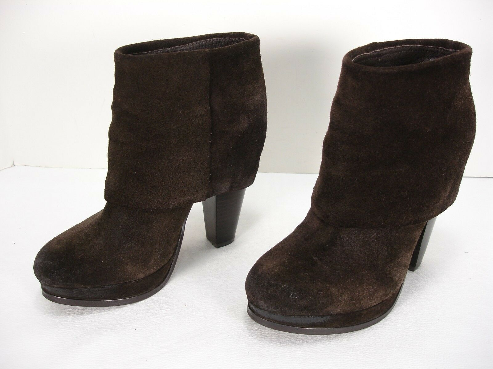 ASH EASY SUEDE PLATFORMS PULL ON ANKLE BOOTS BOOTIES WOMEN'S 36.5