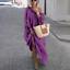 thumbnail 15 - Womens Oversize Long Sleeves Sloping Off Shoulder Loose Maxi Dress Fashion Plus