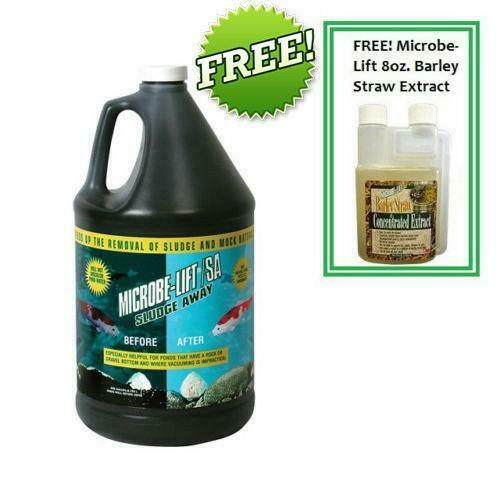 Microbe-Lift Sludge Away 1 Gallon Plus FREE Microbe-Lift Barley Straw Extract
