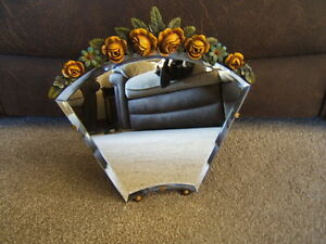 Mirror-Barbola-wedge-shape-bevelled-glass-great-condition-rear-stand-B1-138