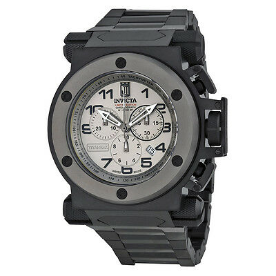 Invicta Jason Taylor Chronograph Titanium Dial Black Ion-plated Mens Watch 14515