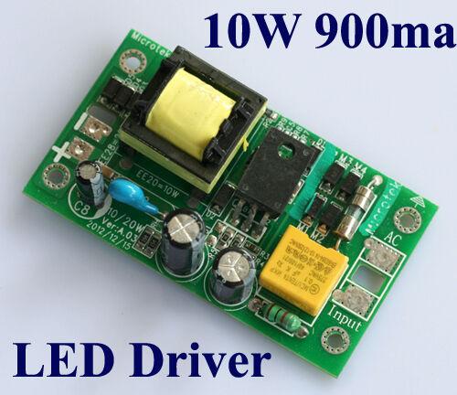 High Power 10W LED Light Driver AC 85-265V to DC 9-12V For LED Light lamp