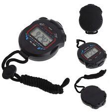 Waterproof Handheld Digital LCD Stopwatch Sports Chronograph Counter Timer Watch