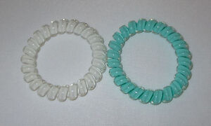 Swirly Do Hair Ties Mint Green White (2) Tangle Free Ponytail New ... e62f85614d9
