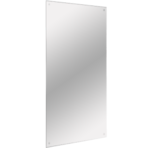 Frameless Rectangle Mirror Includes Wall Hanging Fixings