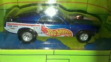 Hot Wheels Tour Edition Car '70 Ford Mustang  Blue with flames 1998 diecast 1/64