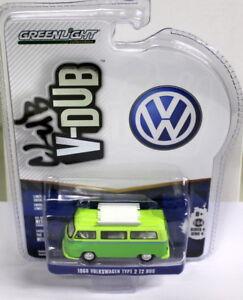 Greenlight-1-64-Scale-Club-V-Dub-1968-Volkswagen-Type-2-Bus-Diecast-model-car