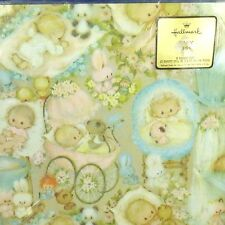 NIP Vintage Hallmark Mary Hamilton Baby Gift Wrap Wrapping Paper - Boy or Girl