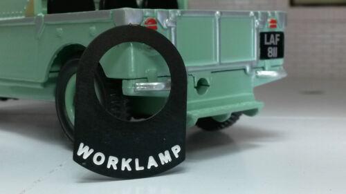 Land rover série 1 2 2a 2b métal commutateur étiquette tag autocollant étiquette rechargeable rechargeable