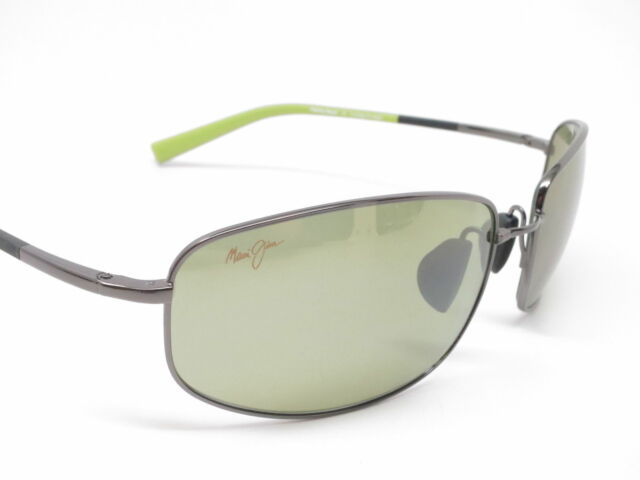 NEW Maui Jim Fleming Beach Gunmetal with Green Maui HT Sunglasses MSRP $339