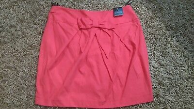 Linen Blend Skirt,bow Detail.r.r.p £25.new With Tags Women's Clothing Clothing, Shoes & Accessories