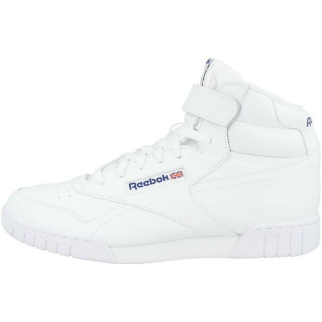 Reebok Ex O Fit Hi Chaussures Loisirs Sport Fitness Baskets Montantes Blanc 3477