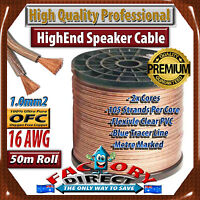 50m Roll Hq Professional 16awg Gauge 1.3mm2 100% Pure Copper Ofc Speaker Cable