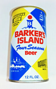 BARKER/'S ISLAND FOUR SEASON BEER ss CAN Walter Brwy Eau Claire WISCONSIN 1979 1+