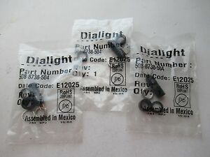 LOT OF 2 DIALIGHT 508-8738-504 5088738504 75W 125V DATA LAMP HOLDER NEW