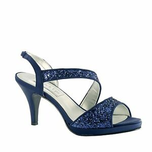 Navy Blue And Silver Wedding Shoes