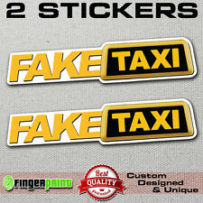 FAKE TAXI faketaxi sticker vinyl decal bumper window funny oem dub jdm fun vag