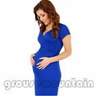 Pregnant NECESSARY Maternity Short Sleeve Casual Dress Cotton Summer SOL