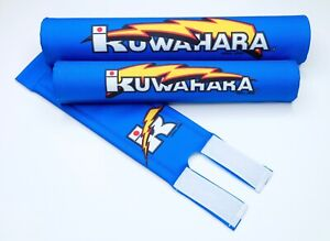 Kuwahara-Limited-Release-Re-issued-3-piece-Blue-Straight-Handlebar-Pad-Set