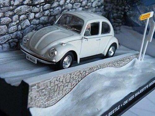 = James Bond Volkswagen Beetle Voiture Modèle OHMSS couleur BLANC 1//43 exemple T3412Z