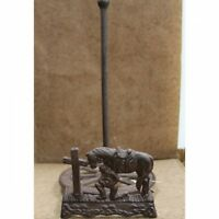 Cast Iron Praying Cowboy At The Cross Paper Towel Holder Brand