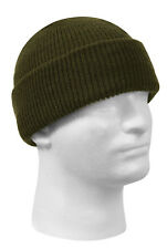 Military Style Wool Watch Cap Winter Hat Olive Drab Made In USA Rothco 5779 2a0e0394ebae