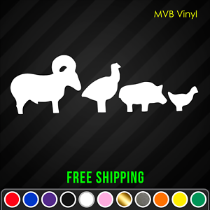 Details about  /Silhouette Targets Animal Vinyl Decals StickerShooting Rifle Air Gun Plinking
