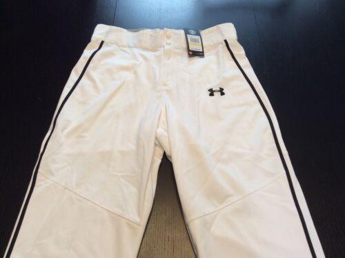 Under Armour Coupe Décontractée Baseball Softball pantalon-Taille Homme Moyen-Blanc Neuf avec étiquettes
