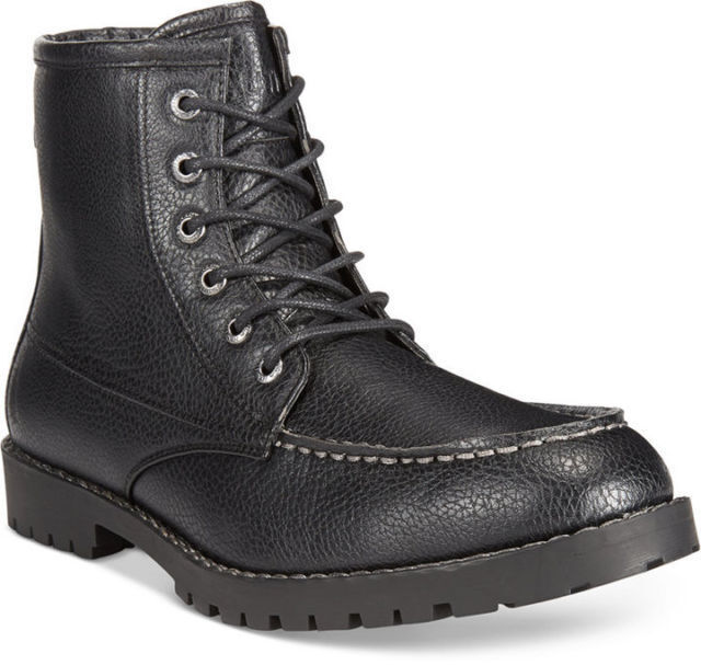 size 8.5 Nautica Mens Madryn Moc-Toe Black Boots Mens Nautica Ankle Shoes NEW 4d1cfd
