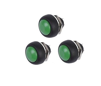 10PCS NEW Green 12mm Waterproof momentary Push button Switch Mini Round Switch